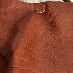 Benetton leather antique handbag.